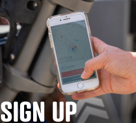 Sign up for WE-cycle on the app