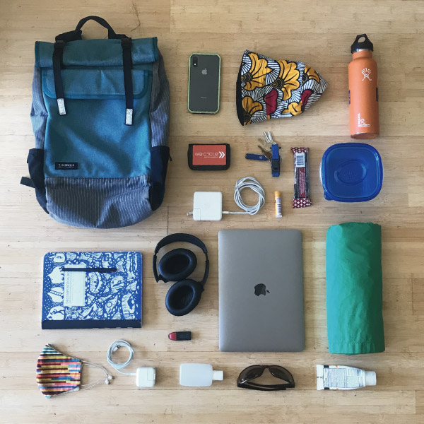 Ideal contents of cycling bag