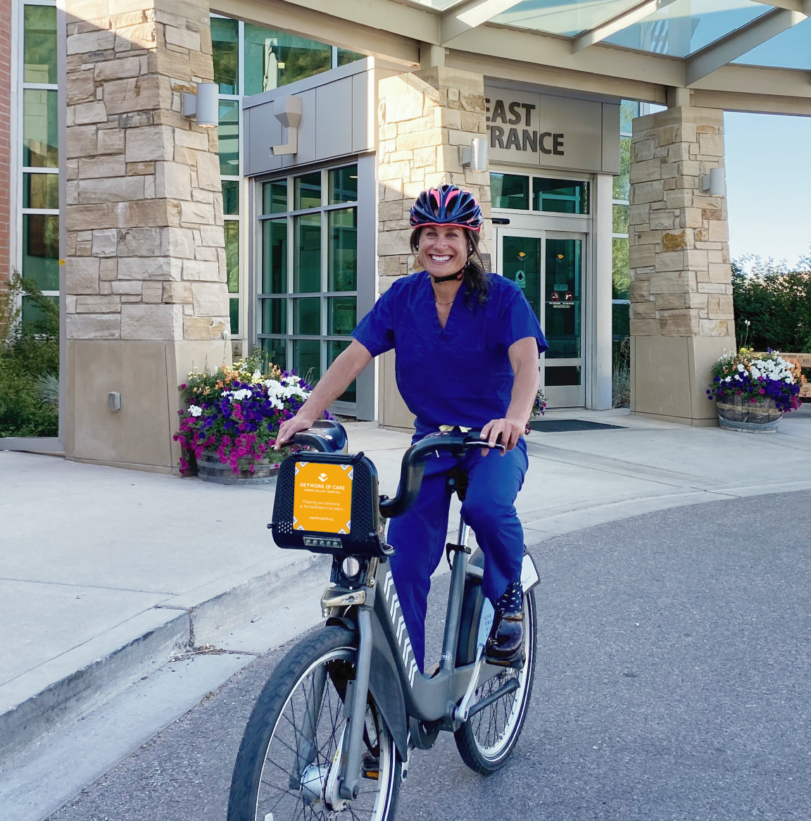Liz Levin with AVH on a WE-cycle