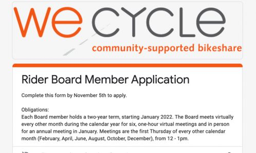 We-cycle board application